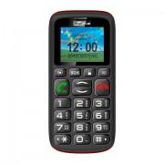 """MaxCom MM428 1.8"""" 78g Nero, Rosso Telefono per anziani"""