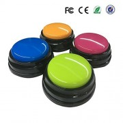 Plastic Answer Buzzers Set of 4 Talking Buttons for kids Classroom Games Gifts By DTnovation
