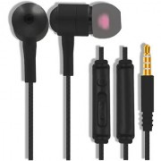 Hong Kong Brand HA EWGX 300 Premium High-Fidelity In-Ear Bass Wired Metal Earphone/Headset with Mic and Multi-Function Volume Control Black