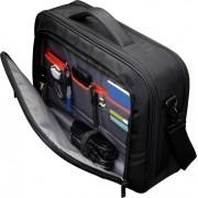 "Geanta corporate nylon 16"" cu buzunar pentru ipad ,black/red, ZLC216"