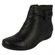 Clarks Women's Everlay Mandy Black Boots - 3 UK/India (35.5 EU)