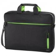 Чанта за лаптоп HAMA Marseille Style, 17.3, Сив/Зелен, HAMA-101787