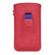 Decoded iPhone hoesje Decoded iPhone 4/4S Leather Pouch Strap Fuchsia