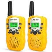 DMbaby 3-12 Year Old Girl Gifts, Long Range Walkies Talkies for Kids Toys Girls Gifts Yellow Dj03
