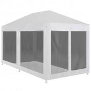 vidaXL Tenda para festas com 6 paredes laterais em rede 6x3 m