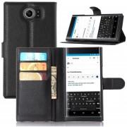 teléfono cubierta de cuero del caso del tirón del monedero plena flor para Blackberry Priv-Nergo