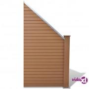 vidaXL WPC Panel ograda 105x(105-185) cm Smeđa