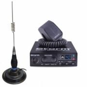 Kit Statie Radio CB Storm Discovery 3 ASQ + Antena CB Megawat ML70 Black cu Baza Magnetica 145mm