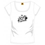 Tour De France T Shirt Dames Met Logo Wit Maat S