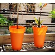 Wonderland (pack of 2) round pots in Orange
