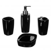 Set accesorii baie Designer Collection, 4 piese, Negru