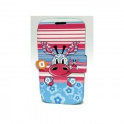 "Capa Protetora ""Flip Book Fashion Stripes Animal"" BQ Aquaris 4.0"