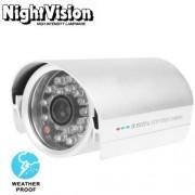 BUIJB Cámara 1/3 Pulgadas Sony 420TVL 6mm Conjunto de Lentes LED Fijo y Resistente al Agua la cámara CCD Color Video sin Soporte, IR Distancia: 25m
