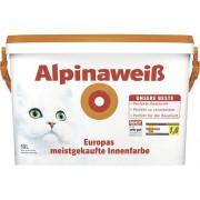 Vopsea lavabilă de interior Alpinaweiss albă mată 10 l