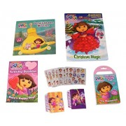 Dora the Explorer Activity Gift Set ~ New Discoveries (Carry Along, Notebooks, Happy Day, Christmas Magic, Ocean Adventure, Stickers; 6 Items, 1 Bundle)