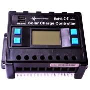 Napelem töltővezérlő 40 amper / 12V / 24V kék