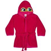 Roupao Infantil Tip Top com Capuz Pink Atoalhado Personagem Sapinha