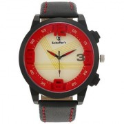 Scheffer's Yellow/ Red Dial Analog Watch For Men - SC-RD-S-7021