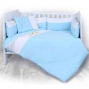 Спален комплект от 6 части за бебешка кошара Lorelli Za Za, Синьо, 0746846