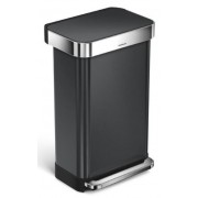 CW2053 Pedálos szemetes, 45 literes, beépített zsáktartóval fekete