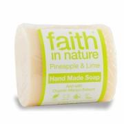 Sapun solid cu ananas si lime, Faith in Nature, 100 g