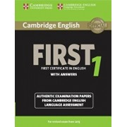 Cambridge English First 1 for Revised Exam from 2015 Student's Book with Answers: Authentic Examination Papers from Cambridge English Language Assessm, Paperback/***