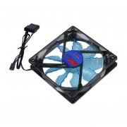 Cool & Quiet 15 LED Verde/Azul Desktop Pc Caso Ventilador De Refrigeración