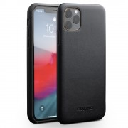 QIALINO Genuine Leather Phone Back Case for iPhone 11 Pro Max 6.5-inch - Black