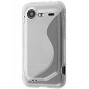 HTC Incredible S Wave Case - HTC Soft Cover (Frosted Clear/Clear)