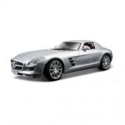 Maisto 1:18 Scale Silver Die Cast 2010 Mercedes-Benz SLS AMG