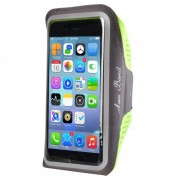 Outdoor Sports Water-Resistant Lycra Armband Case for IPHONE 7 PLUS / 6 PLUS / 6S PLUS / 8 PLUS / IPHONE X - Grey + Yellow