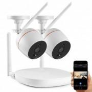 Grantek Kit NVR WiFi 2 Caméras + Enregistreur
