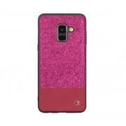 Husa Protectie Spate Tellur Glitter II Roz pentru Samsung Galaxy A8