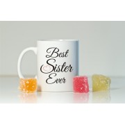 Grabadeal Beautiful White Best Sister Ever Coffee Mug Gift for Raksha Bandhan