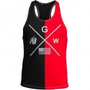 Gorilla Wear Sterling Tank Top - Zwart/Rood - 3XL