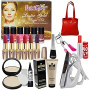 Budget Bazaar Beauty Combo Makeup Sets With Gold Facial Kit Iron
