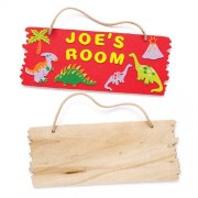 Baker Ross Blank Wooden Plaques - 3 plain wooden plaques to personalise. 20cm x 8cm