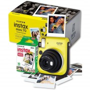 Camara Fujifilm Instax Mini 70 Instantanea Espejo Selfie - Amarillo Nueva + Cartucho De 10