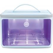 59s Sterilisator P55 grijs UV-LED-lichtsterilisatorbox met rits voor reinigen van bacteriën en virussen. Geschikt voor smartphone, sleutels, horloges en sierraden.