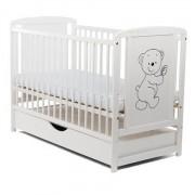 Baby Needs - Patut din lemn Timmy cu sertar