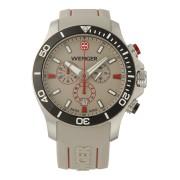 【62%OFF】SEA FORCE Chrono ラウンド クロノグラフ デイト ダイバーズウォッチ ケースカラー:シルバー ベルトカラー:クリーム ファッション > 腕時計~~メンズ 腕時計