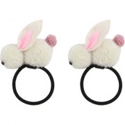 Iconic Rabbit hair bands for baby girls (set of 2) White