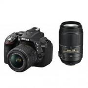 Nikon D5300 24.2 MP CMOS Digital SLR Camera Double Zoom Lens Kit with 18-55mm f/3.5-5.6G ED VR II + 55-300mm f/4.5-5.6G ED VR - International Version (No Warranty)
