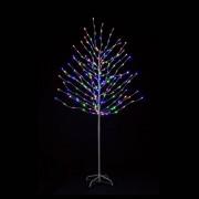 All Round Fun 6ft Rainbow Tree with Pink, Warm White, Blue and Green LED Lights