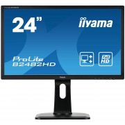 IIYAMA ProLite B2482HD-B1 Monitor Led 24 1920 x 1080 Full HD TN 250 cd m2 1000:1 5 ms DVI-D, VGA nero