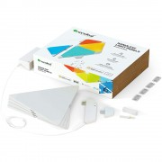 Kit 4 panouri luminoase triunghiulare LED RGBW Nanoleaf Canvas cu senzor muzica