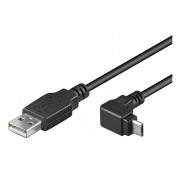 WIR852 CABLE USB MACHO A MICRO USB ACODADO MACHO