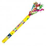 Tun de confetti cu serpentine multicolore - 60 cm 1 buc