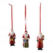Villeroy & Boch Nostalgic Ornaments ensemble d'ornements Père Noël, 8 x 3,5 cm, 3 pièces