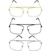 Aligatorr Rectangular Sunglasses(Clear)